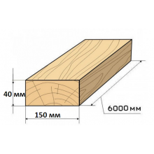 Обрезная доска 40х150х6000
